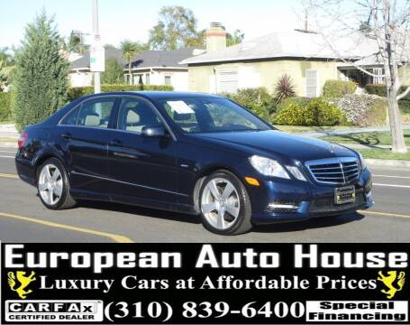 2012 Mercedes-Benz E-Class for sale at European Auto House in Los Angeles CA