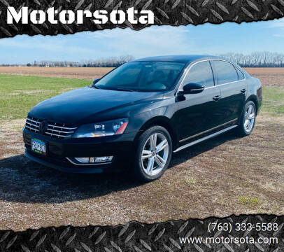 2012 Volkswagen Passat for sale at Motorsota in Becker MN