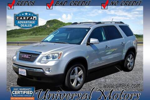 2010 GMC Acadia for sale at Universal Motors in Glendora CA