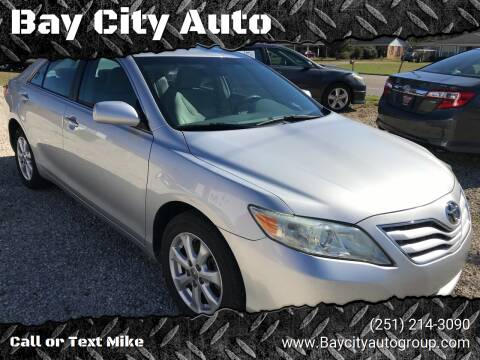 2011 Toyota Camry for sale at Bay City Auto's in Mobile AL
