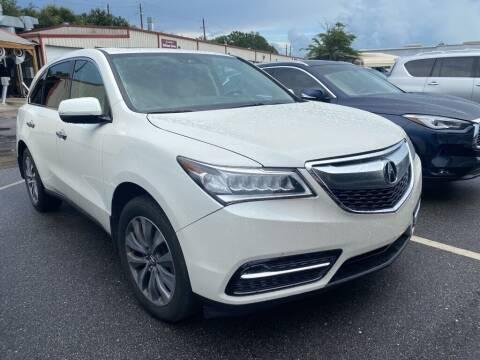 2016 Acura MDX for sale at JOE BULLARD USED CARS in Mobile AL