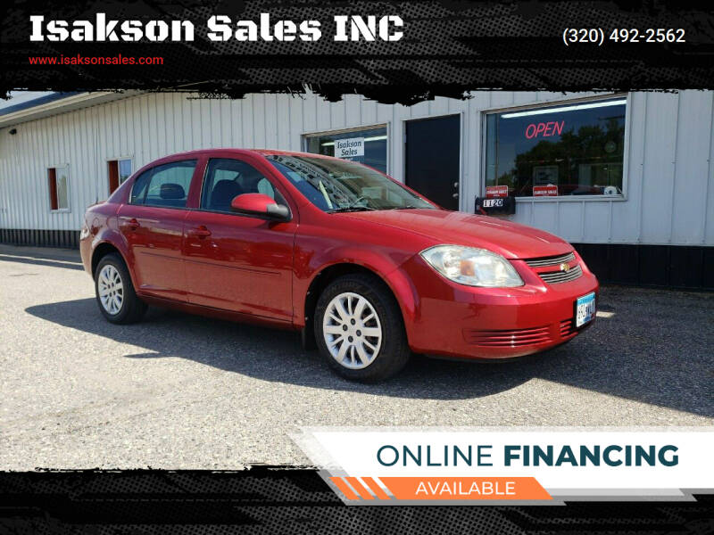2010 Chevrolet Cobalt for sale at Isakson Sales INC in Waite Park MN