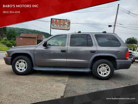 2003 Dodge Durango for sale at BABO'S MOTORS INC in Johnstown PA