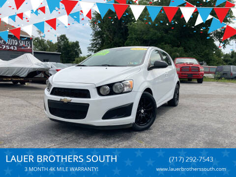 2013 Chevrolet Sonic for sale at LAUER BROTHERS SOUTH in York PA