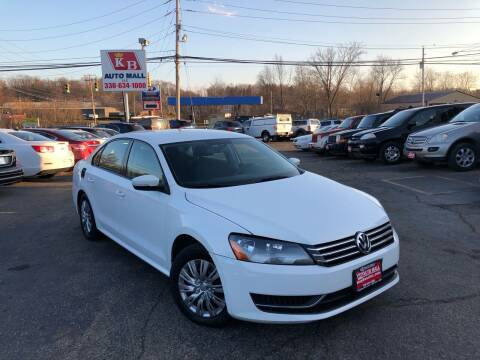 2013 Volkswagen Passat for sale at KB Auto Mall LLC in Akron OH