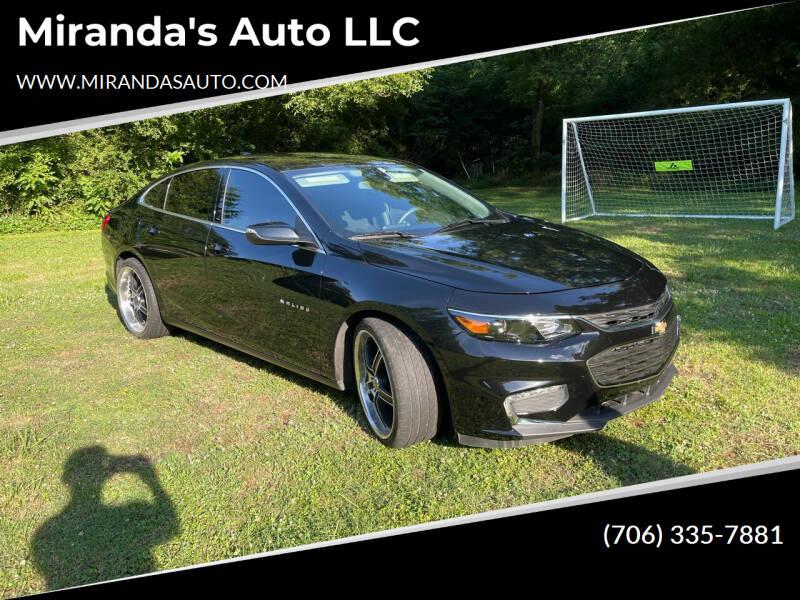 2018 Chevrolet Malibu for sale at Miranda's Auto LLC in Commerce GA