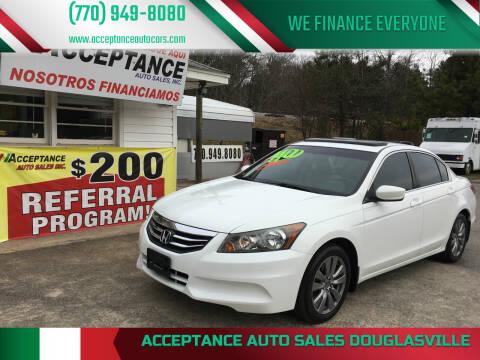 2012 Honda Accord for sale at Acceptance Auto Sales Douglasville in Douglasville GA