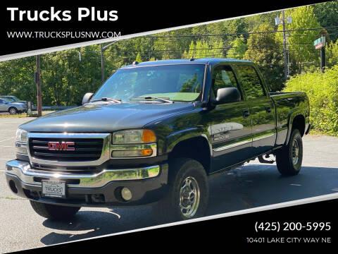 2005 GMC Sierra 2500HD for sale at Trucks Plus in Seattle WA