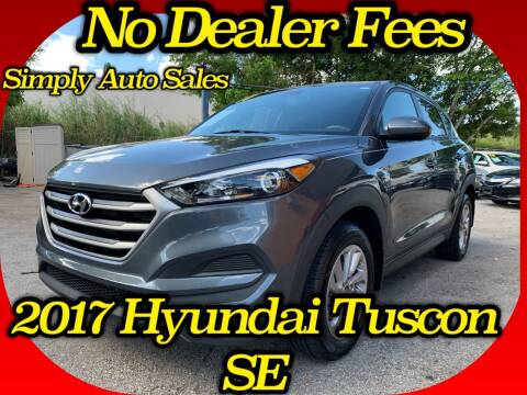 2017 Hyundai Tucson for sale at Simply Auto Sales in Palm Beach Gardens FL