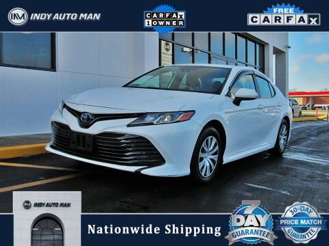 2019 Toyota Camry Hybrid for sale at INDY AUTO MAN in Indianapolis IN