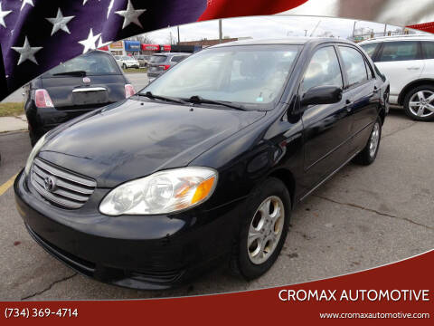 2003 Toyota Corolla for sale at Cromax Automotive in Ann Arbor MI