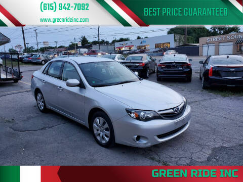 2011 Subaru Impreza for sale at Green Ride Inc in Nashville TN