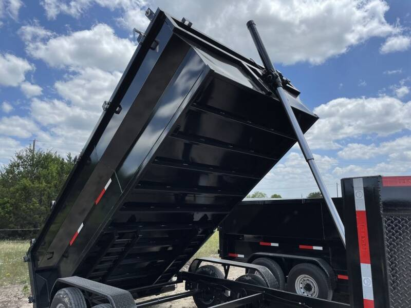 2021 US BUILT -7 X 14 X 3 GN - REAR RAMPS -  for sale at LJD Sales in Lampasas TX