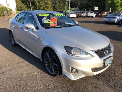2012 Lexus IS 250 for sale at Freeborn Motors in Lafayette, OR