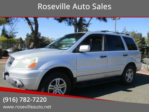2004 Honda Pilot for sale at Roseville Auto Sales in Roseville CA