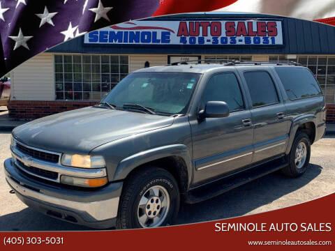 2002 Chevrolet Suburban for sale at Seminole Auto Sales in Seminole OK