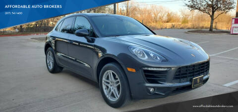 2017 Porsche Macan for sale at AFFORDABLE AUTO BROKERS in Keller TX
