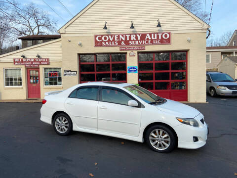 2010 Toyota Corolla for sale at COVENTRY AUTO SALES in Coventry CT