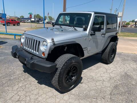 2012 Jeep Wrangler for sale at Superior Used Cars LLC in Claremore OK