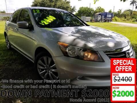 2012 Honda Accord for sale at AUTO COLLECTION OF SOUTH MIAMI in Miami FL