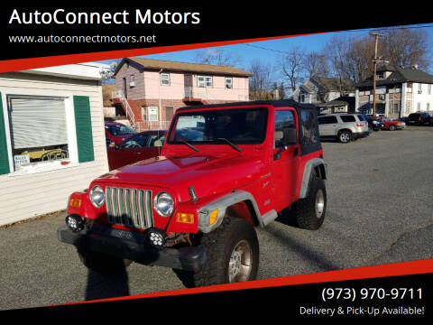 2002 Jeep Wrangler for sale at AutoConnect Motors in Kenvil NJ