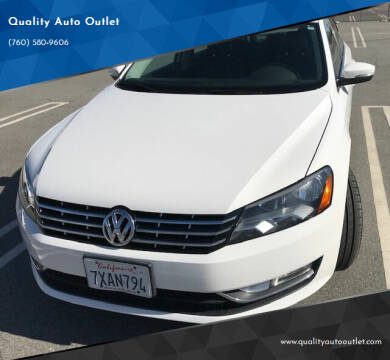 2014 Volkswagen Passat for sale at Quality Auto Outlet in Vista CA