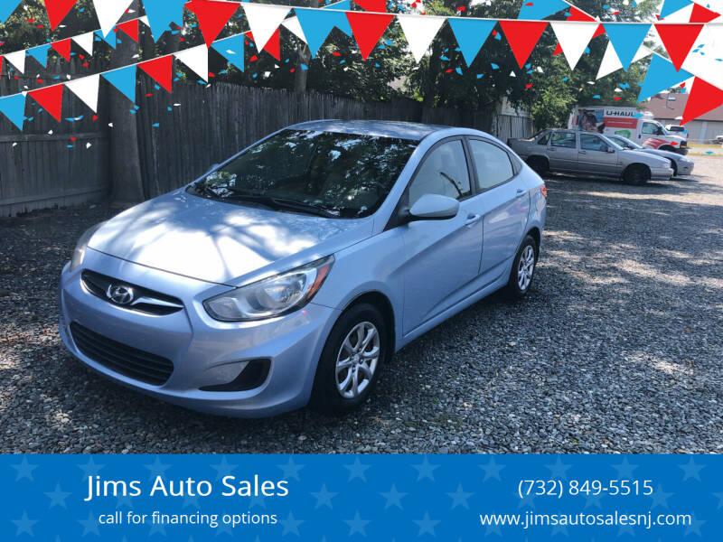 2013 Hyundai Accent for sale at Jims Auto Sales in Lakehurst NJ