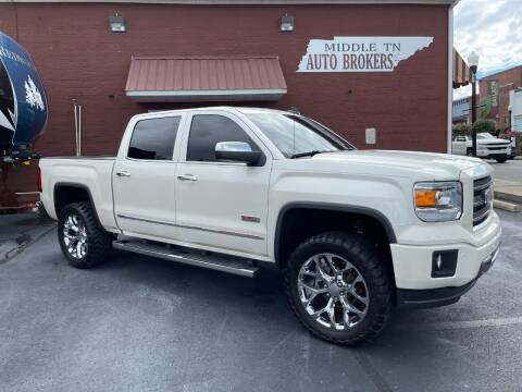 2015 GMC Sierra 1500 for sale at Middle Tennessee Auto Brokers LLC in Gallatin TN