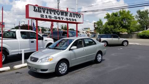 2003 Toyota Corolla for sale at Levittown Auto in Levittown PA