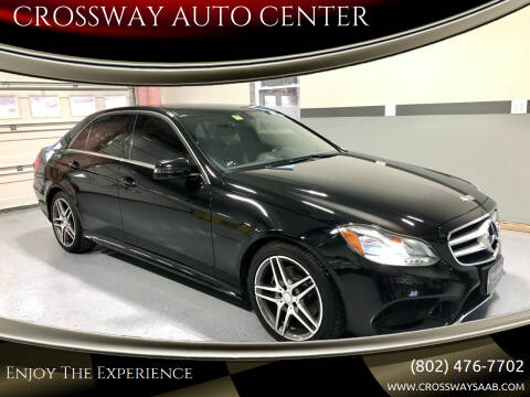 2014 Mercedes-Benz E-Class for sale at CROSSWAY AUTO CENTER in East Barre VT
