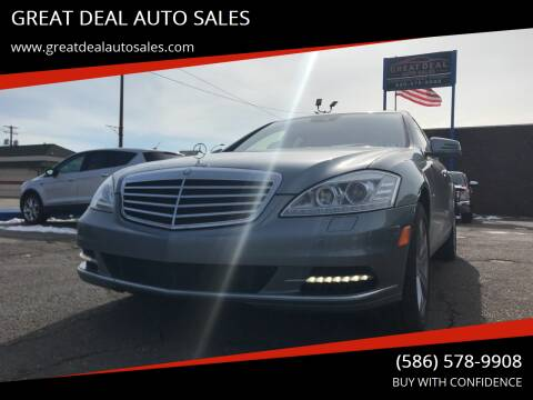 2012 Mercedes-Benz S-Class for sale at GREAT DEAL AUTO SALES in Center Line MI