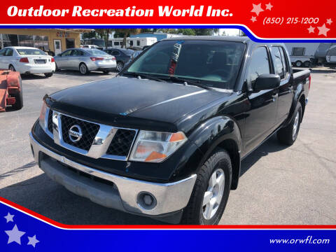 2005 Nissan Frontier for sale at Outdoor Recreation World Inc. in Panama City FL