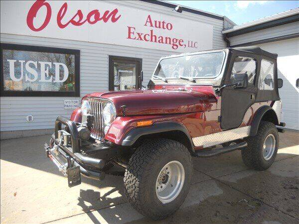 1976 Jeep CJ-5 for sale at OLSON AUTO EXCHANGE LLC in Stoughton WI