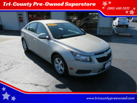 2014 Chevrolet Cruze for sale at Tri-County Pre-Owned Superstore in Reynoldsburg OH
