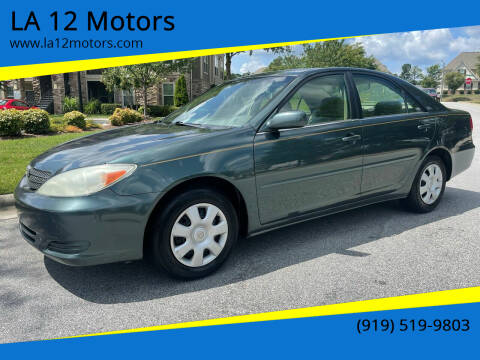 2003 Toyota Camry for sale at LA 12 Motors in Durham NC