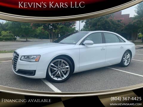 2015 Audi A8 L for sale at Kevin's Kars LLC in Richmond VA