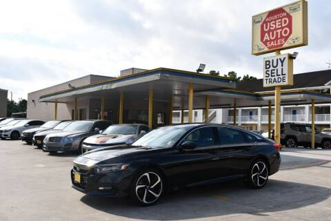 2018 Honda Accord for sale at Houston Used Auto Sales in Houston TX