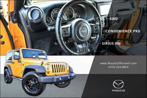 2013 Jeep Wrangler for sale at Mazda Of Roswell in Roswell GA