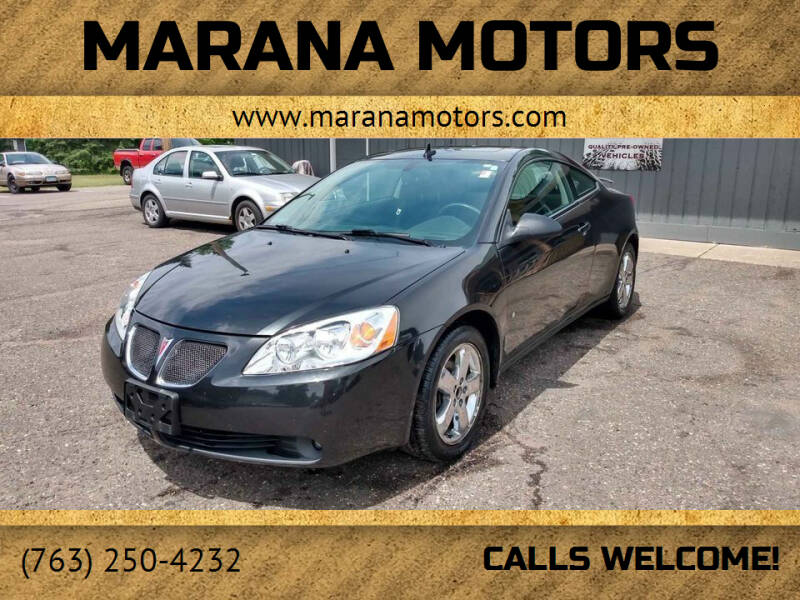 2008 Pontiac G6 for sale at Marana Motors in Princeton MN
