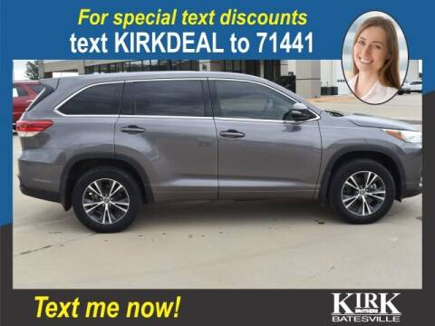 2018 Toyota Highlander for sale at Kirk Brothers Batesville in Batesville MS