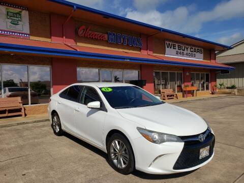 2017 Toyota Camry for sale at Ohana Motors - Lifted Vehicles in Lihue HI