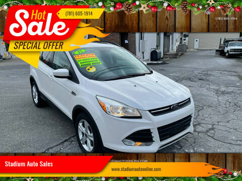 2015 Ford Escape for sale at Stadium Auto Sales in Everett MA