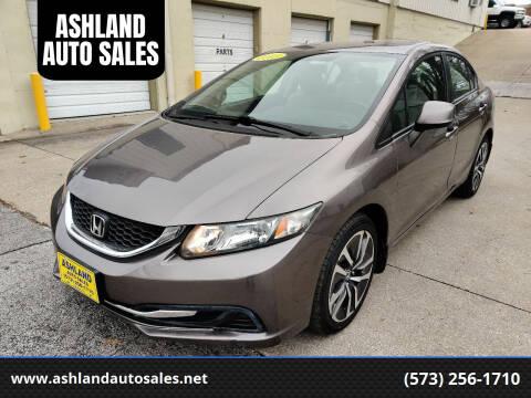 2013 Honda Civic for sale at ASHLAND AUTO SALES in Columbia MO