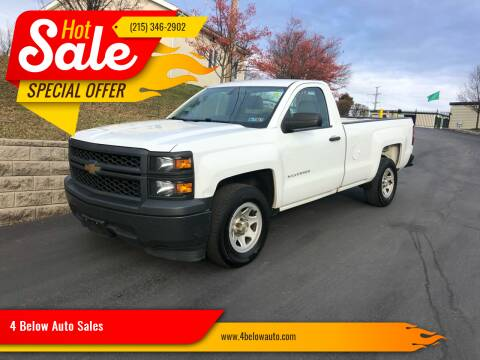2014 Chevrolet Silverado 1500 for sale at 4 Below Auto Sales in Willow Grove PA