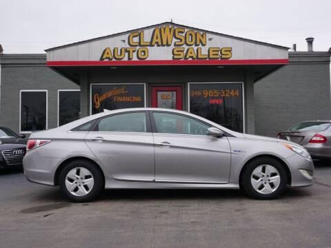 2012 Hyundai Sonata Hybrid for sale at Clawson Auto Sales in Clawson MI