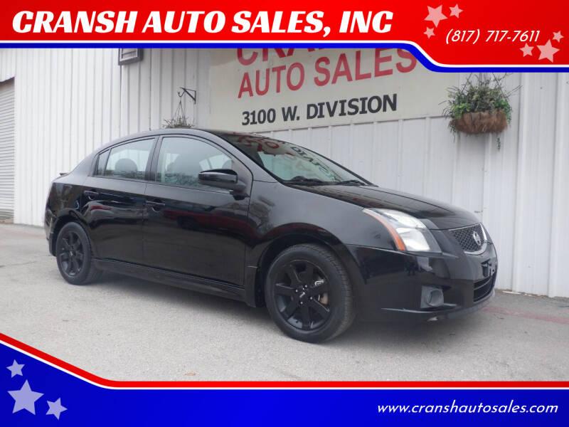 2010 Nissan Sentra for sale at CRANSH AUTO SALES, INC in Arlington TX