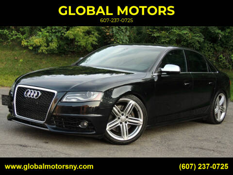 2012 Audi S4 for sale at GLOBAL MOTORS in Binghamton NY