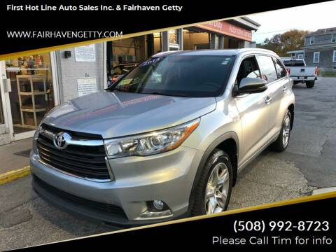 2014 Toyota Highlander for sale at First Hot Line Auto Sales Inc. & Fairhaven Getty in Fairhaven MA