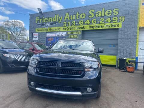 2012 Dodge Durango for sale at Friendly Auto Sales in Detroit MI