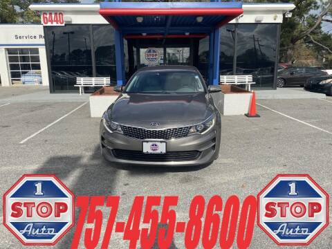 2016 Kia Optima for sale at 1 Stop Auto in Norfolk VA